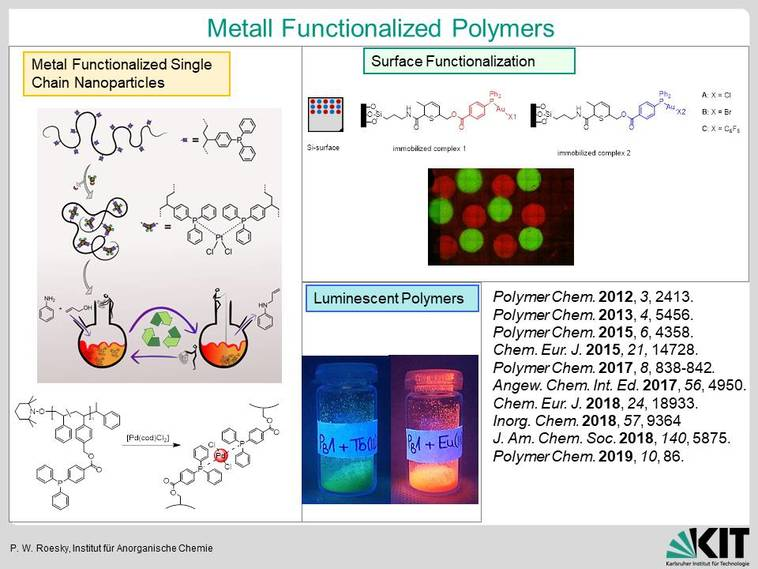 Metall functionalized Polymers